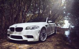 BMW M5 F10 White Car HD Wallpaper 123