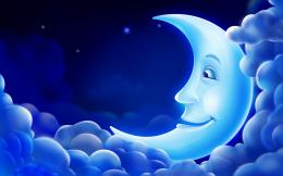 Download Cg Animation Pc Background Blue Moon Smile Sky Star Wallpaper 1745