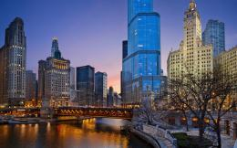 Chicago illinois night Wallpapers Pictures Photos Images 616