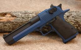 Wallpaper gun, handgun, pistol, desert eagle, blue wallpapers weapon 1151