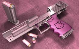 Hello Kitty Desert Eagle Gun HD Wallpapers 974