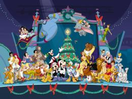 Disney Characters Christmas Wallpaper 1672