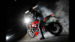 Ducati Naked Streetfighter Sportbike Smoke Burnout wallpaper 799