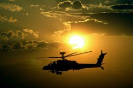 Apache Helicopters Sunset HD Wallpapers 1867