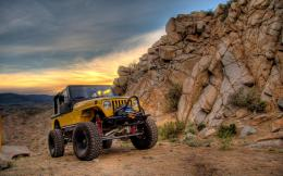 Jeep In Desert MountainsHD Wallpaper, get it now! 1042