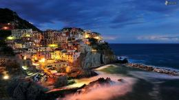 Manarola Night HD Widescreen Wallpaper | High Defenition Wallpaper 1314