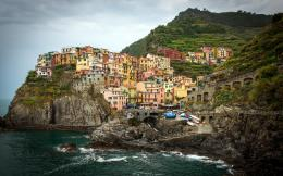 Seaport Town Of Manarola Italy Mountain hd wallpaper #1502410 394