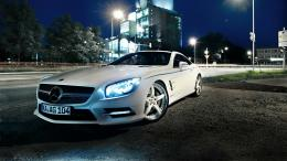 mercedes benz sl 500 night wallpaper posted admin category mercedes 897
