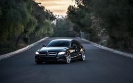 Mercedes Benz CLS550 Black Car Tuning HD Wallpaper 808