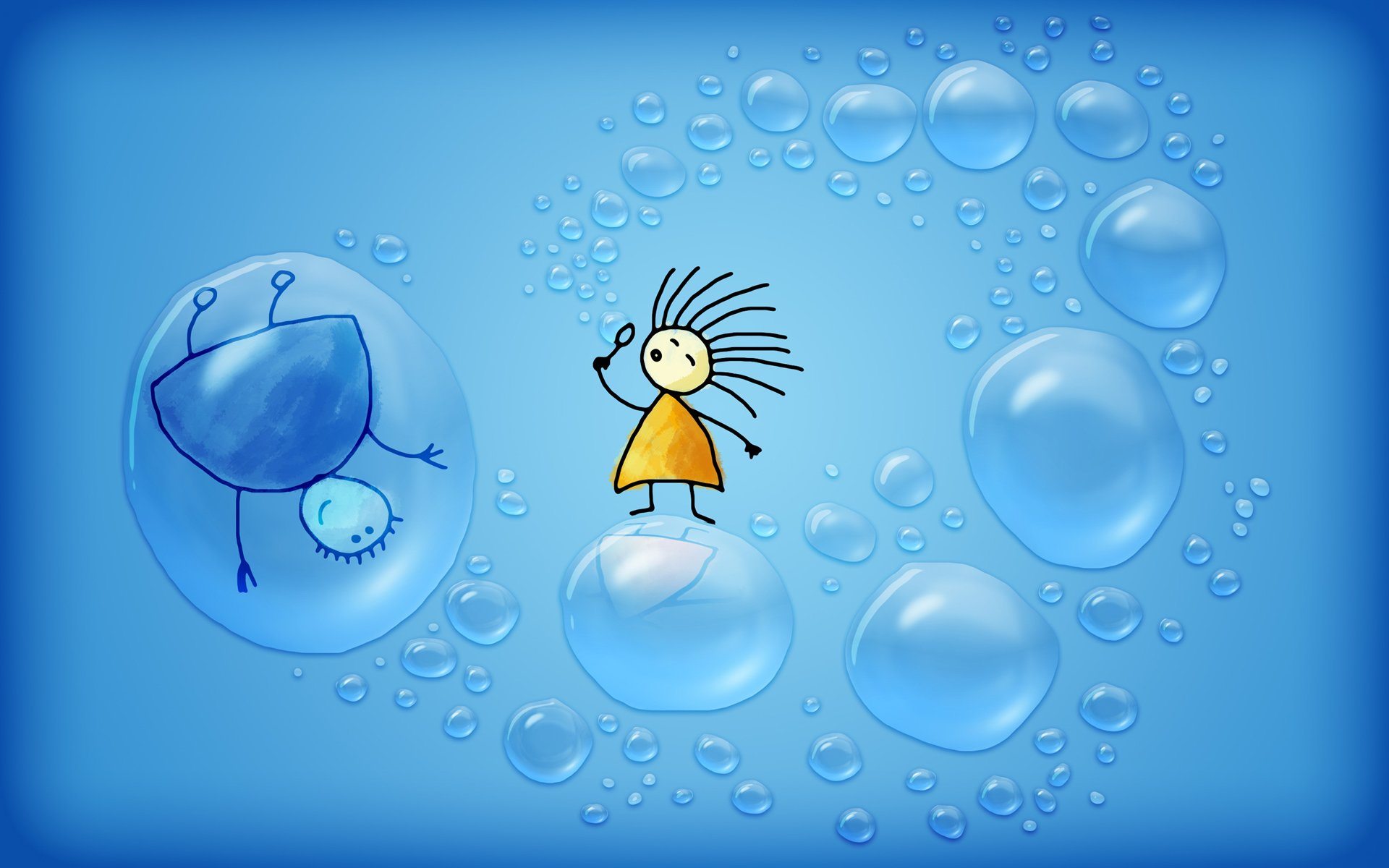Bubbles cute animation HD wallpapers new animated desktop wallpapers 560