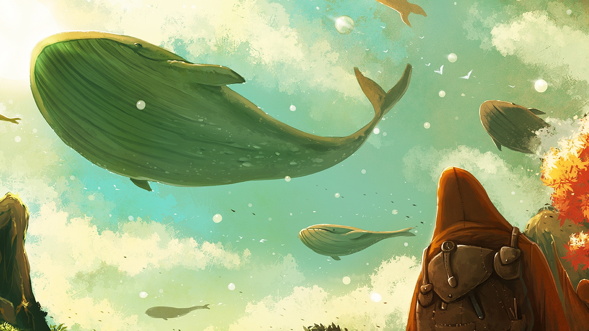 free download new animated desktop wallpapers animated whales images 811