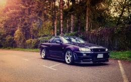 Nissan Skyline GT R R34 Road HD Wallpaper 1157