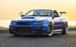 Nissan Skyline GT R R34 Wheels Tuning Car Wallpapers HD 358