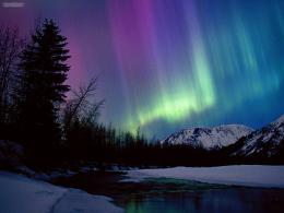 Northern Lights Wallpaper 1600x1200 Northern, Lights, Over, Portage 912