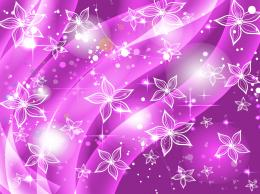 Purple Flowers Stars Background | Desktopaper | HD Desktop Wallpapers 1668