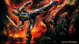 Mortal Kombat Scorpion Fire Sword HD Wallpaper 1278