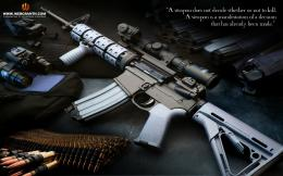 Hi tech Machine Gun Desktop Background 1390