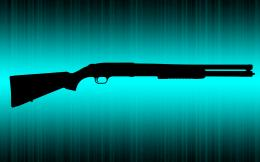 guns shotguns cyan shotgun black HD Wallpaper of 1688