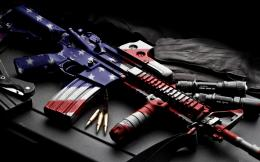 usa america guns mech machine bullet ammo ammuntion flag wallpaper 1368