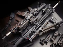 Assault rifle background gun desktop images 1175