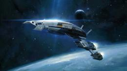 Space Concept Art Normandy Ship HD Desktop Wallpaper 257
