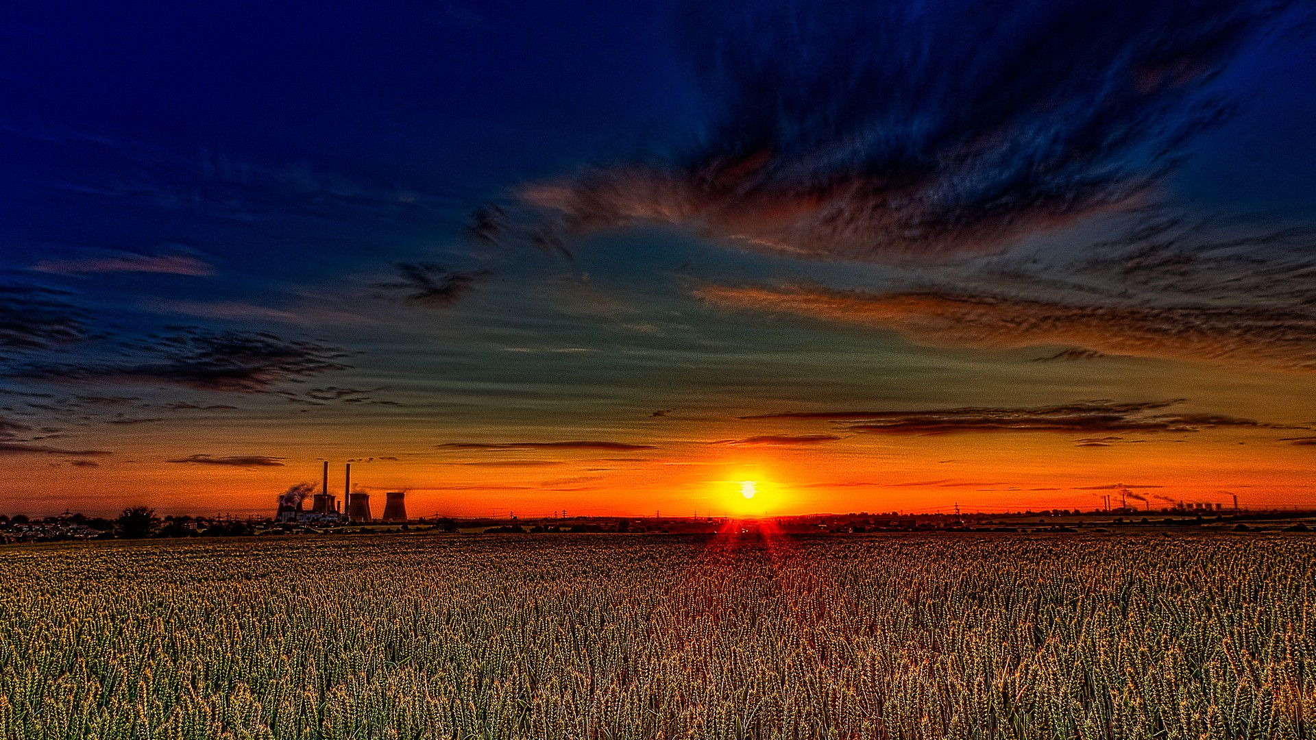 Sunset Field HD Wallpapers 1801