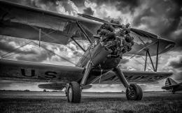 Airplane Plane B W Propeller HDR military wallpaper | 1920x1200 1512
