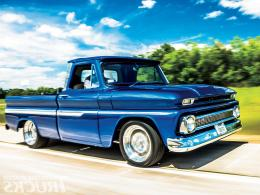 1964 chevy c10 blue truck classic cars wallpaper 1841