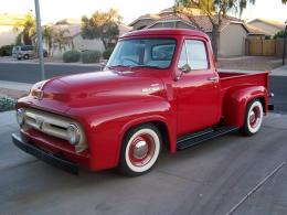 1953 ford f 100 red vintage truck classic 148