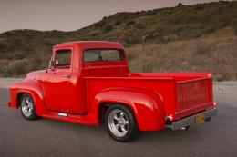 1956 ford 100 red truck classic cars 1782