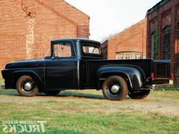 Blue oval bomber 57 black truck classic 1737