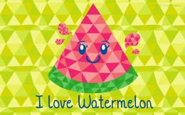 Geometric Watermelon Wallpaper by VampireJaku 709