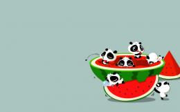 wallpapers :: watermelon :: panda 1923