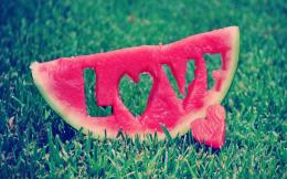 Watermelon art love wide HD wallpaper 709