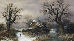Winter Nature Painting HD Wallpaper 325