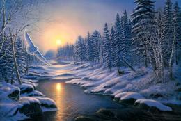 winter solstice painting wide hd desktop wallpapers free download 1873