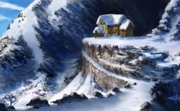 The lodge art mountain winter painting 3d 354