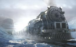 ice winter season snow trains digital art artwork HD Wallpapers Train 1654