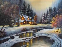 By vickie wade paintings winter creek art 952
