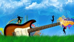 Vector Guitar HD Wallpapers With Resolutions 1600×900 Pixel 906