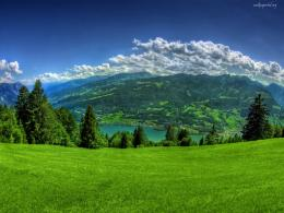 Green Mountain Scenery on Top Wallpaper | Wallpaper ME 1359