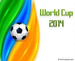 Shiny Football Background with Soccer Ball and World Cup 2014 242