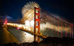 Fireworks On Golden Gate Bridge HD wallpapers 684