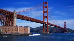 Wallpaper Panorama of Golden Gate suspension bridge1920 x 1080 HDTV 1597
