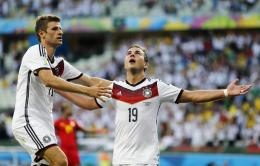 Mario Gotze Celebrating after Goal in FINAL of World cup 2014 1897