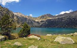 Full View and Download mountain lakes Wallpaper with resolution of 1233