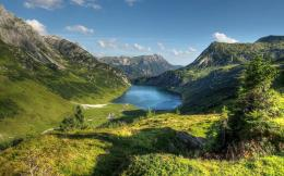 Austria alps mountain lake Wallpapers Pictures Photos Images 1340