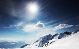 Sunny Snowy Mountains Wallpapers | HD Desktop Wallpapers 271