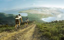 mountain bike view wide hd wallpaper download mountain biking images 636