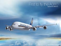 Wallpaper Singapore Airlines, Airbus, A380, Singapore Airlines A380 528